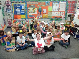 KINDERGARTNERS CELEBRATE FEAST DAY