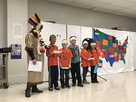 SECOND GRADERS TAKE PART IN POW WOW