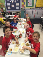 FIRST GRADERS FEAST AND BARTER DAY