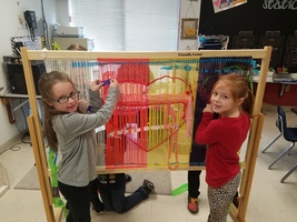 SECOND GRADE ART WEAVING LOOM