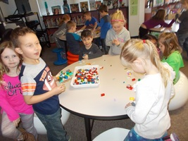 LEGO PARTY IN THE LIBRARY