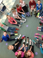SILLY SOCK DAY IN MRS. CHARLES' CLASS