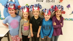 "MS. HOOD'S CLASS ""THING"" HATS FOR DR. SEUSS WEEK"