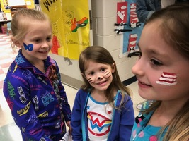 MS. MANN'S CLASS CELEBRATED DR. SEUSS' BIRTHDAY AND DR. SEUSS NIGHT