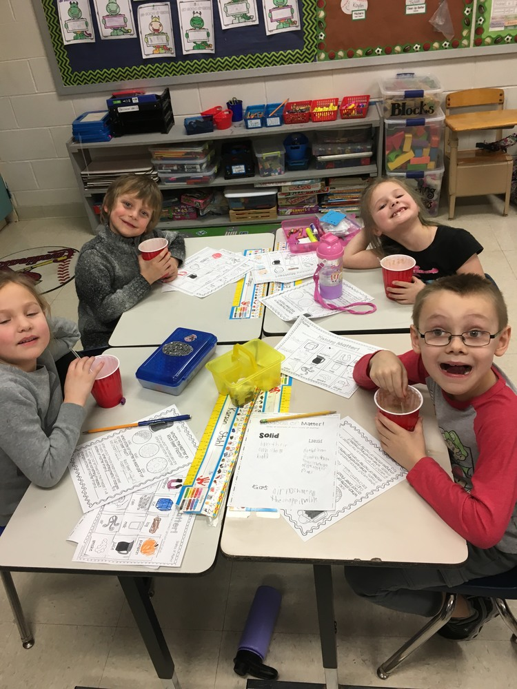 LEARNING ABOUT SOLIDS, LIQUIDS AND GASES AND A ST. PATRICK'S DAY ACTIVITY IN MS. REINERI'S CLASS