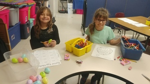 EASTER MATH ACTIVITIES IN MRS. SMITH'S ROOM