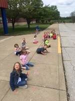 CHARLES' CLASS LEARNING OUTSIDE