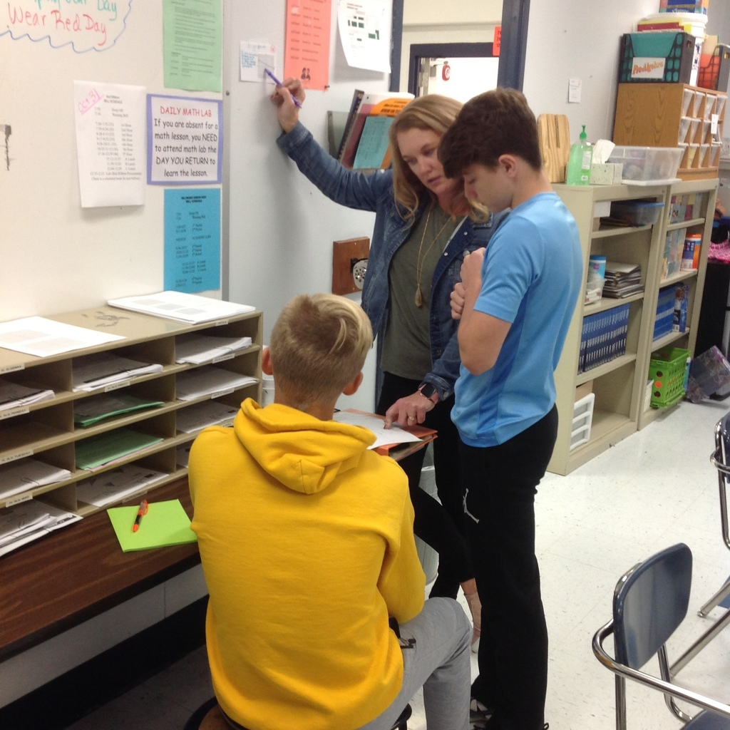 Dr. Schmidt guiding students through a Math Scavenger Hunt.