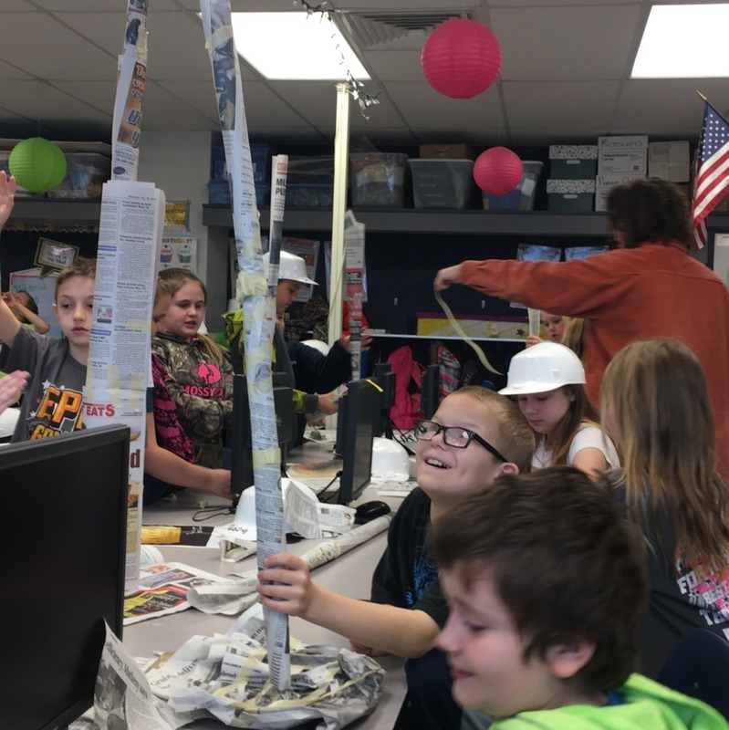 STEM Club Student's Building Tallest Towers