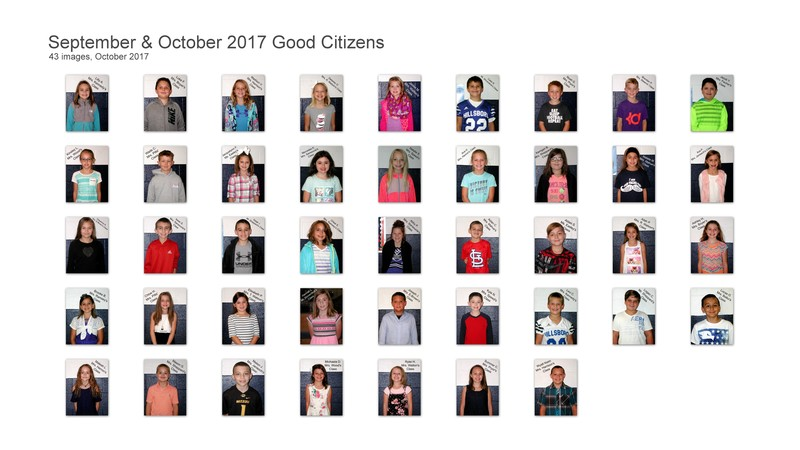September & October Good Citizens of the Month