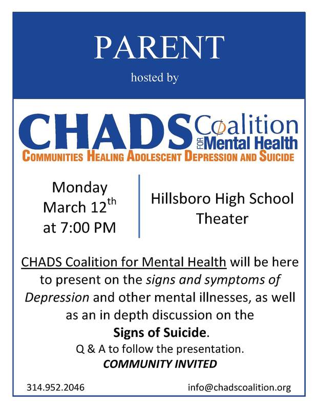 CHADS Coalition for Mental Health Information Meeting