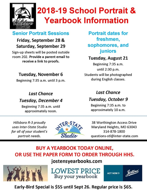 2018-2019 Portrait Dates